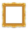 Gold vintage frame vector
