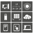 Network and mobile connections icons vector