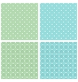Set of seamless retro texture white green blue vector