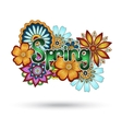 Henna paisley mehndi floral element vector