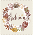 Autumn floral design vector
