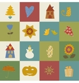 Greeting card happy new year christmas eve set vector
