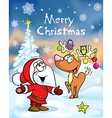 Merry christmas greeting card funny santa claus vector