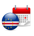 Icon of national day in cape verde vector
