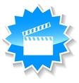 Movie blue icon vector