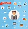 Success businessman flat concept vector