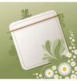Floral background with empty note vector