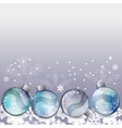 Blue christmas background with glass balls vector