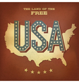 Usa abstract retro poster design copy vector