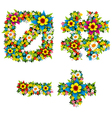 Flower and bush letters 14 vector