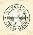 Grunge rubber stamp with auckland new zealand vector