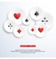 Abstract background with playing cards vector