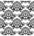 Seamless lace floral vector