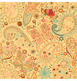 Vintage seamless butterfly motif background vector