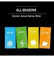 Season icons vector