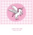 Unicorn card vector