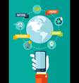 Go green global mobile app concept vector