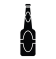 Silhouette of beer bottle vector