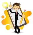 Smart businessman vector