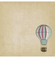 Retro background with aerostat vector