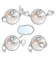 Thinking pearl set vector