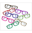 Color glasses - mess vector