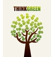 Think green design over white background vector