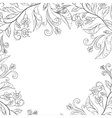 Background flower frame vector