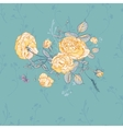 Floral greeting card with blossom roses vector