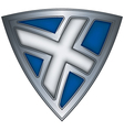 Steel shield with flag scotland vector
