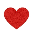 Red heart texture icon vector
