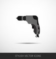 Drill in a flat style with long shadow vector