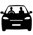 Car share commute vector