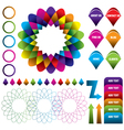 Abstract colorful logo infographic background vector