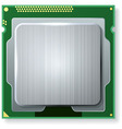 Modern computer core processing unit cpu isolated vector