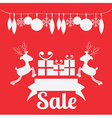 Christmas design over red background vector