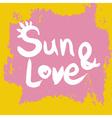 Creative graphic sun and lovewatercolor vector