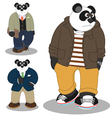 Panda lifestyle vector