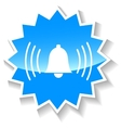 Bell blue icon vector