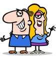 Happy man and woman couple cartoon vector