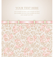 Floral background greeting card template vector
