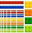 Children plastic bricks toy vector