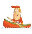 Tourist canoe vector