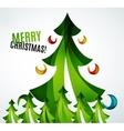 Christmas tree geometric design vector