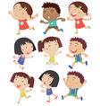 Kids running vector