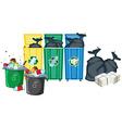 Rubbish bins vector