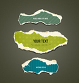 Ripped paper colorful background collections vector