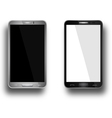 A mobile phones black and silver vector