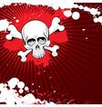 Grunge skull 2 vector