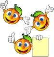 Orange cartoon character vector